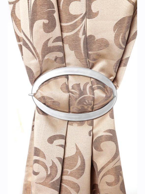 Lote pack de 2 abrazaderas plateadas para cortinas