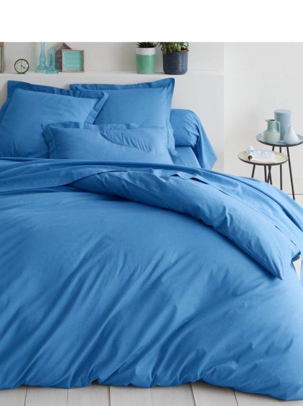 Funda nórdica tejido 100% algodón color azul mar TERTIO