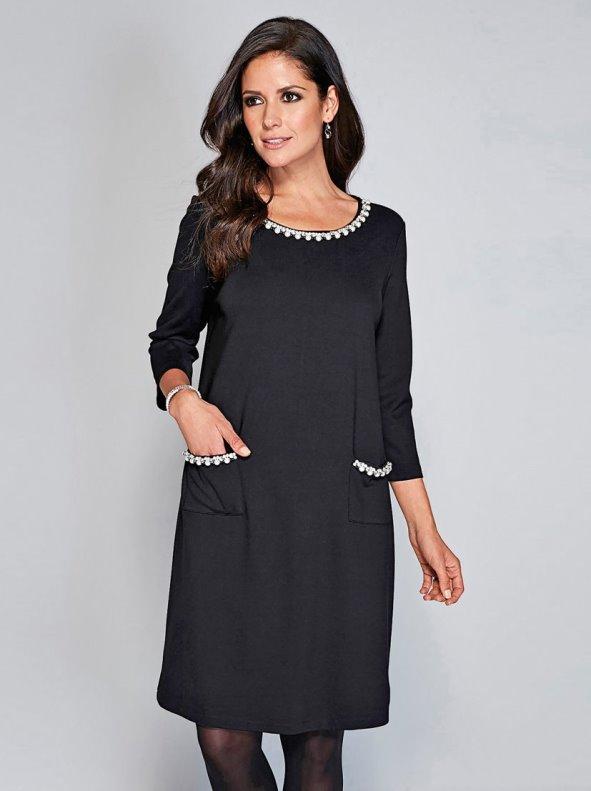Vestidos perla con negro
