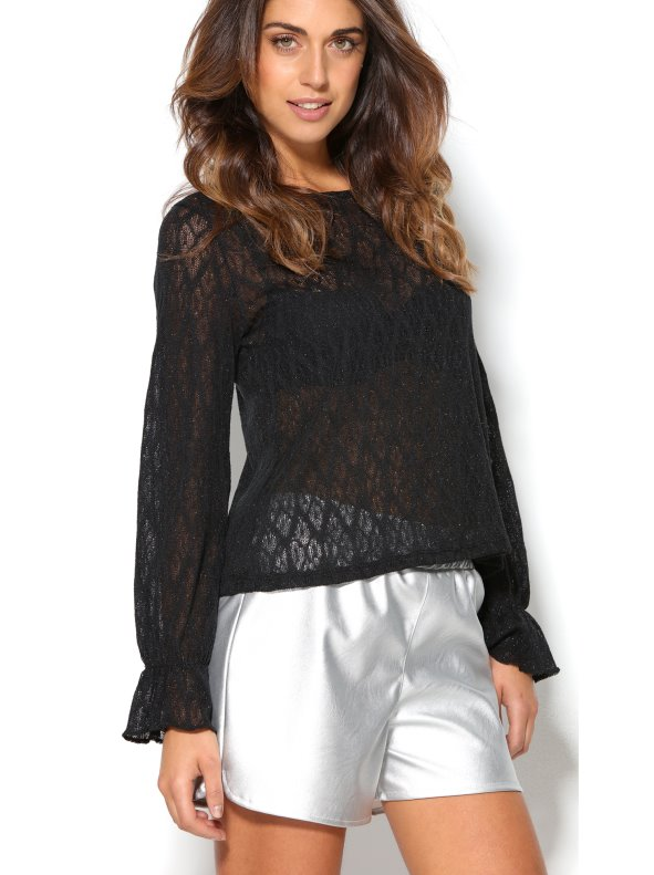 Top party women lace long sleeve with steering wheel TREND CAPSULE BY VENCA