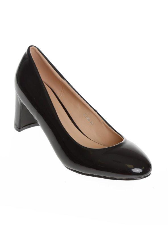 Zapatos mujer salón acabado charol cómodo tacon