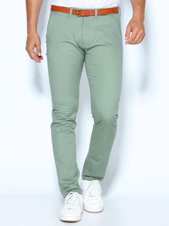 Pantalones de hombre largo US 32 con cinturón de regalo SELECTED