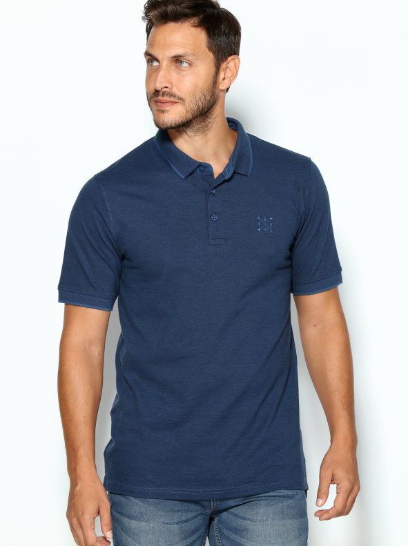 Men's short-sleeved polo with logotype embroidered on chest ONLY & SONS