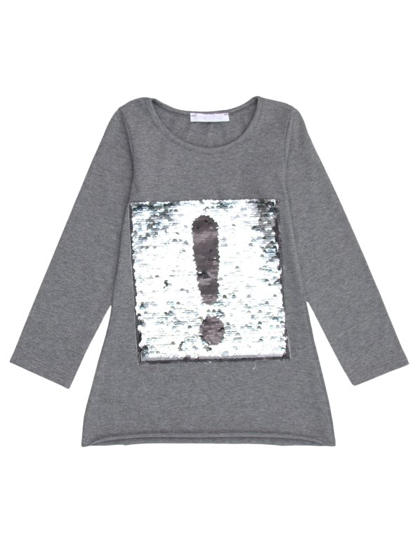 Long Sleeve T-Shirt girl embroidered with sequins VENCA