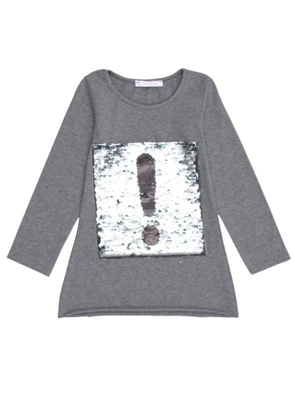 ead7e0f55 Camiseta niña manga larga y lentejuelas bordadas - Venca - 013141