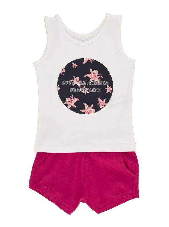 Conjunto 2 piezas en algodón orgánico niña camiseta y short NAME IT