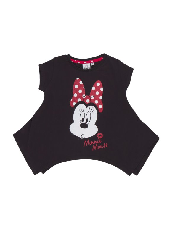 Oversize girl t-shirt stamped Minnie Mouse MINNIE