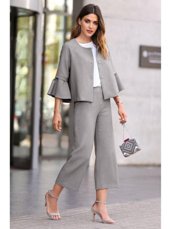 6f0a2406 Pantalón corte culotte vestir de tejido elástico - Venca - 013792