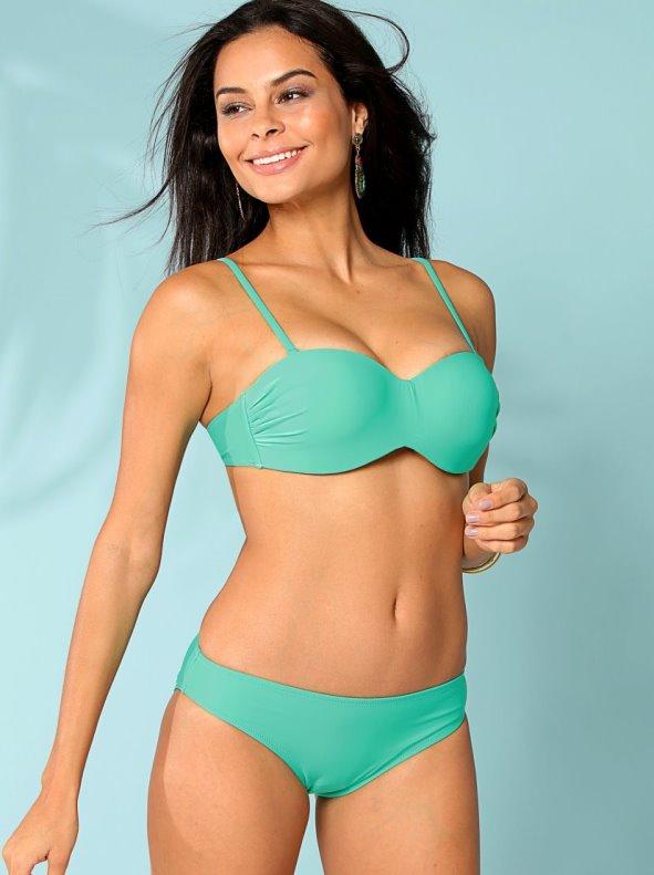 Bikini sujetador con aros preformado almohadillas extraíbles liso