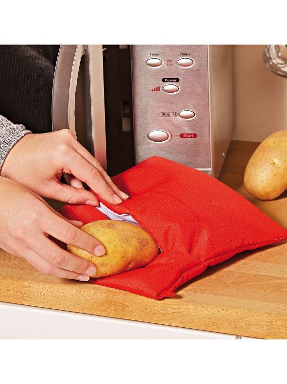 Bolsa cocción para asar patatas microondas rojo VENCA