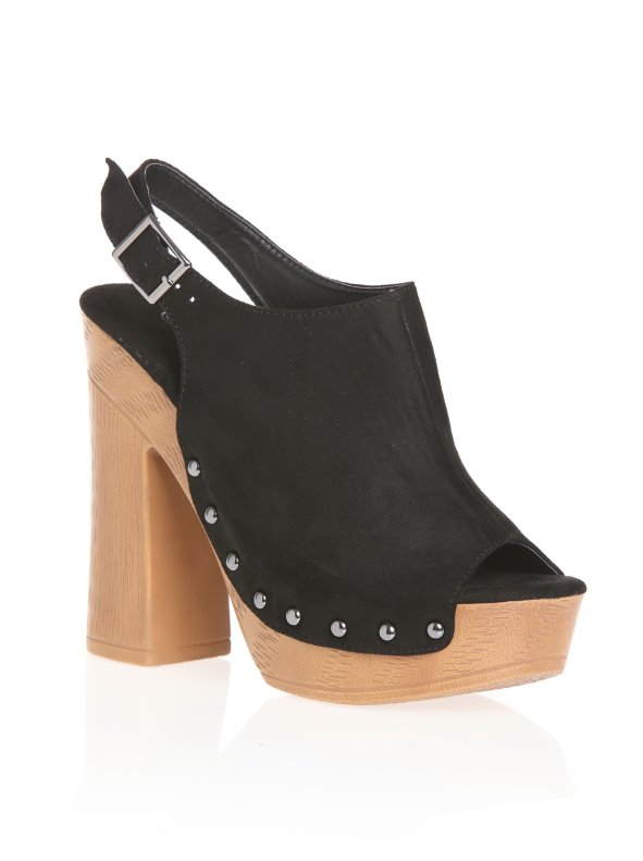 Women's shoes clog type with open toe and platform of 3 cm VENCA