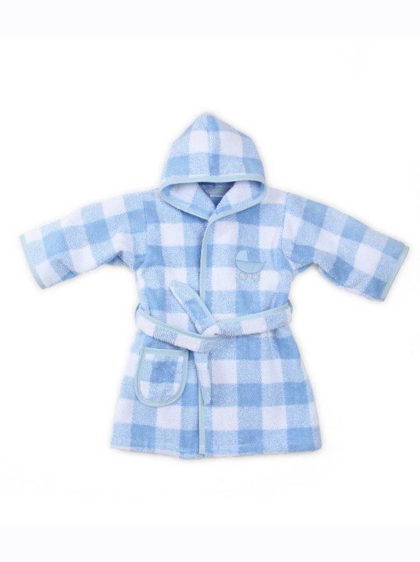 Albornoz de bebé de rizo de algodón con capucha