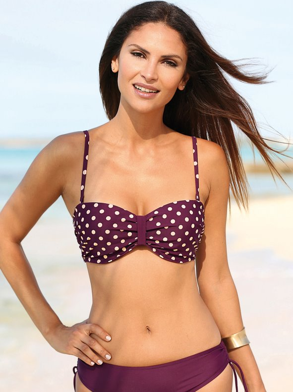 bandeau moles bikini bra with removable straps