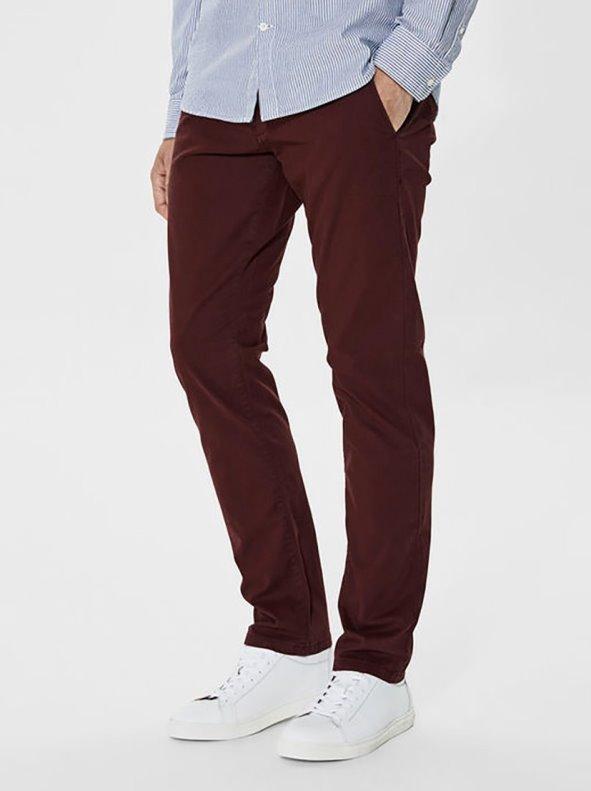 Pantalón largo tipo chino de hombre gabardina elástica US 32 SELECTED