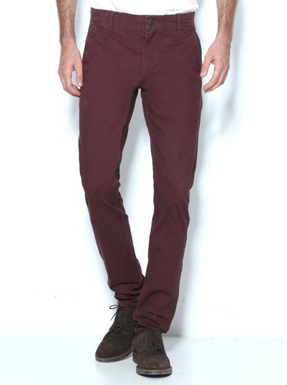 Pantalón vestir de hombre con corte tipo chino largo 32 ONLY & SONS