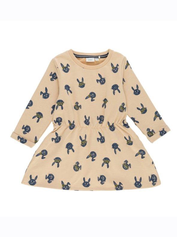 2ae347fab Vestido felpa para niña estampado conejos NAME IT - Venca - 016239