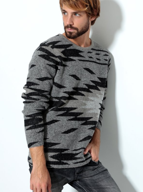 Jersey de hombre tricot con intarsia ONLY & SONS