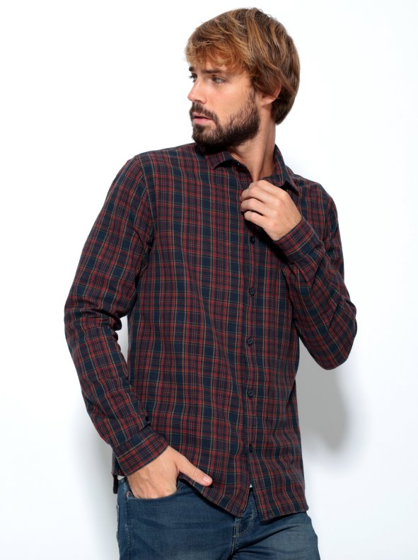 Long sleeved shirt for man in plaid ONLY & SONS