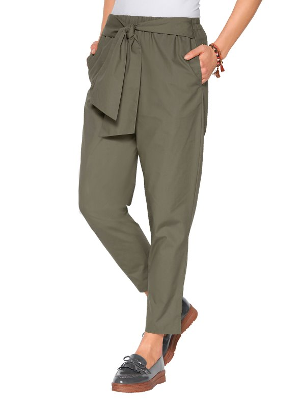 Pantalón cintura elástica con bandas para anudar VENCA