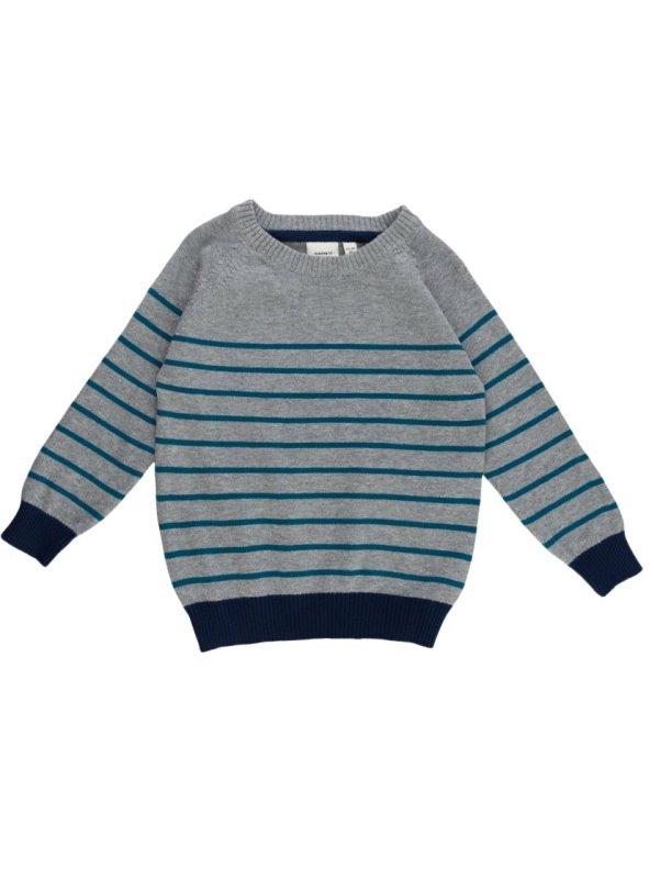 Jersey niño de punto tricot con manga larga diseño rayas NAME IT