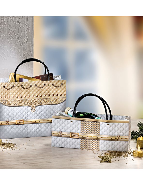Lote 2 bolsas de regalo en forma bolso de diseño