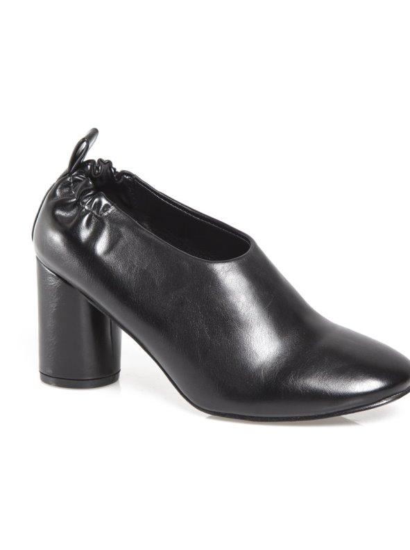 Zapatos mujer de tacón redondo abotinados en el tobillo