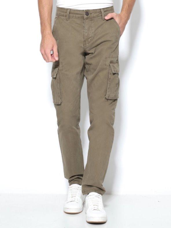 Pantalón largo de hombre tipo cargo con bolsillos de fuelle ONLY & SONS