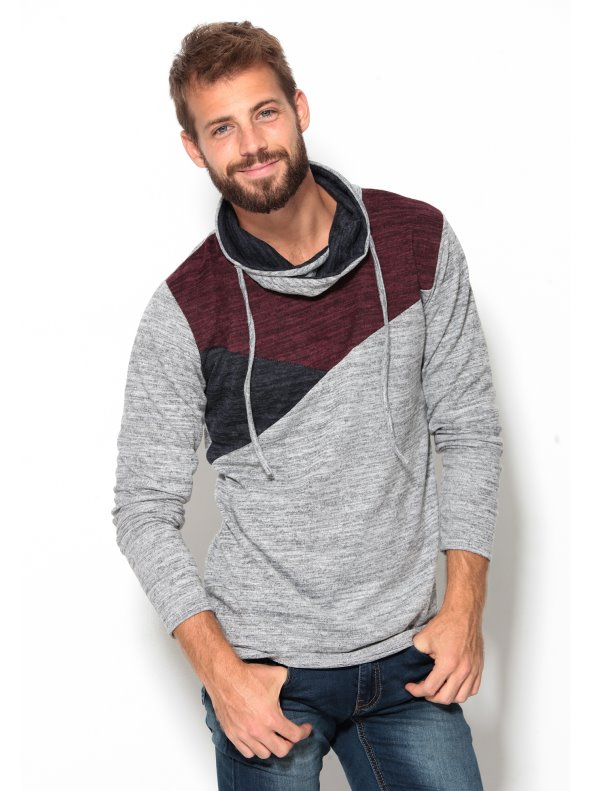 Jersey de punto tricot fino para hombre tricolor VENCA