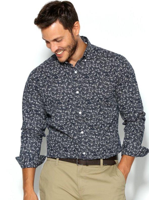 Camisa hombre estampada corte slim ONLY & SONS