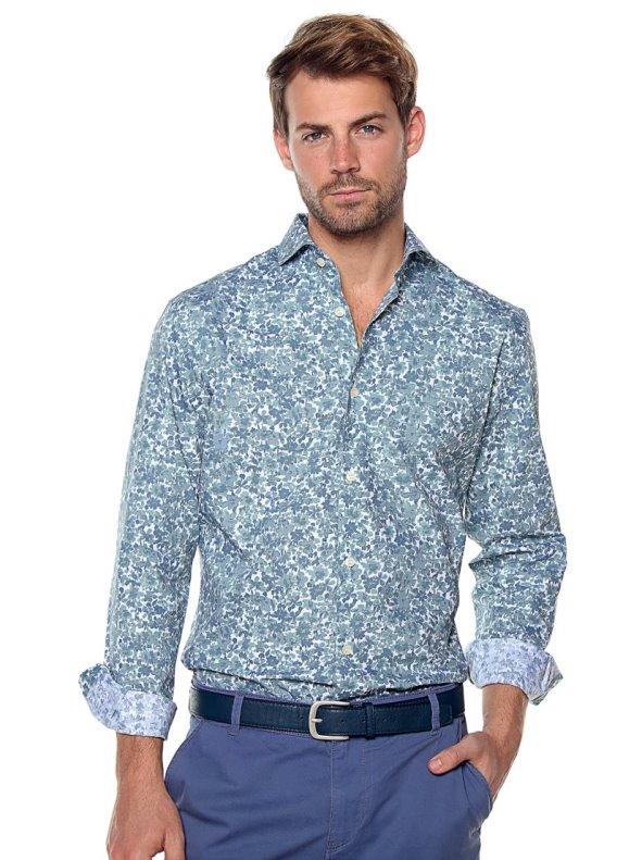 Camisa hombre estampado flores slim fit SELECTED