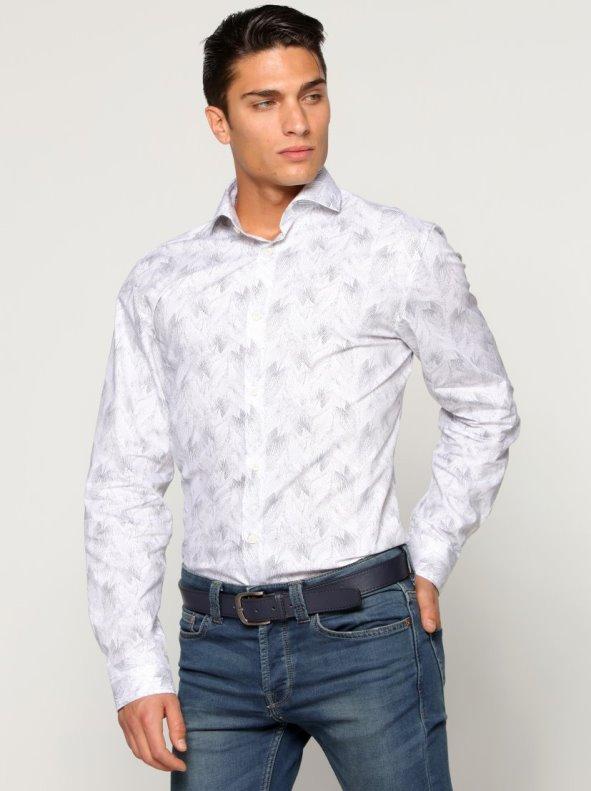 Camisa hombre cuello italiano estampado SELECTED - Venca - 022612 673a2213552