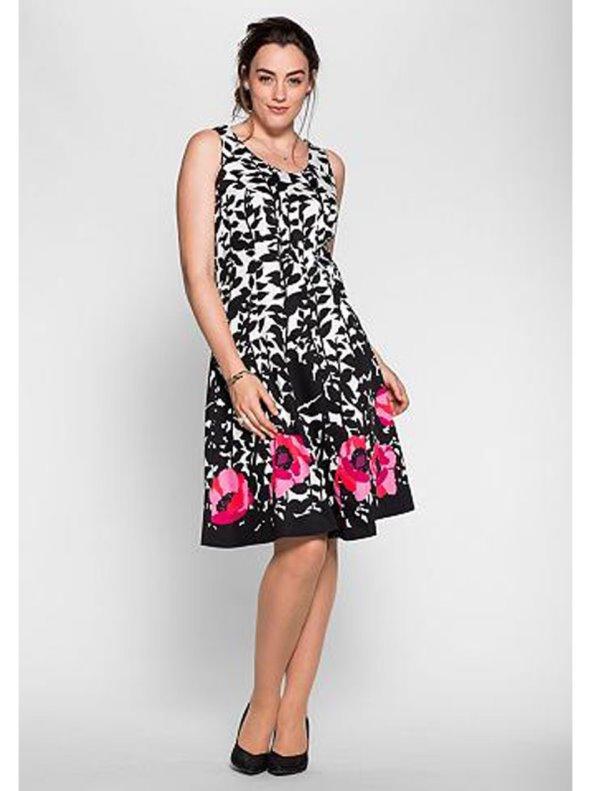f89fff37ced Vestido floral sin mangas tallas grandes SHEEGO - Venca - 023240