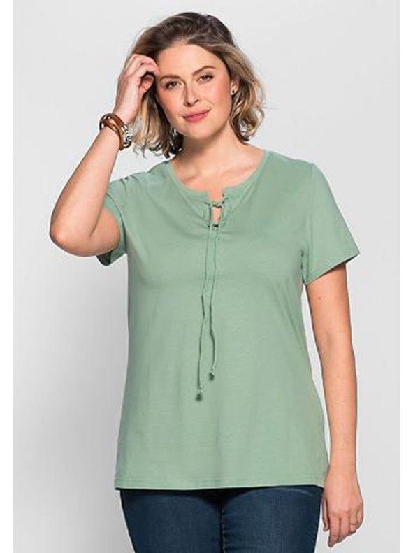 Camiseta De Algodon Puro Mujer Tallas Grandes Sheego Venca 023269