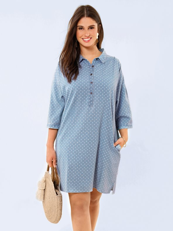 Soft denim dress BELLÍSIMA