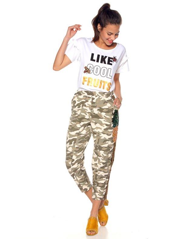 Pantalón estampado camuflaje con aplicaciones TREND CAPSULE BY VENCA