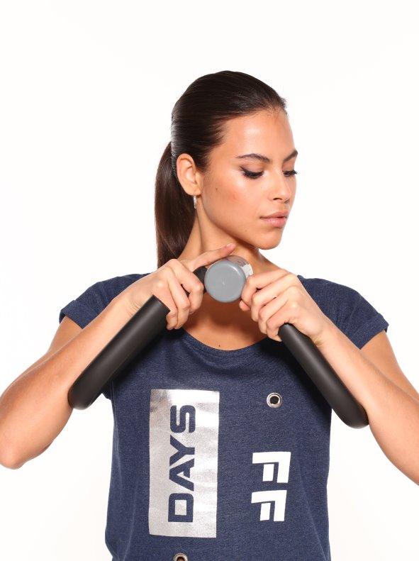 Ejercitador de musculatura plegable