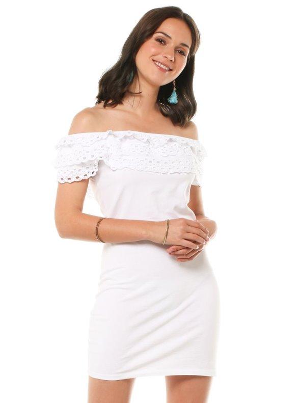 Vestido punto blanco