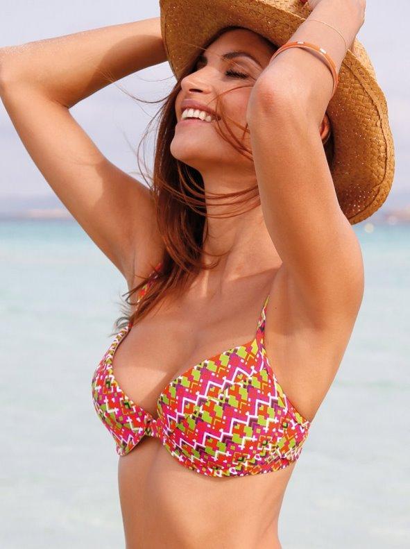 Underwire bikini top with adjustable straps VENCA