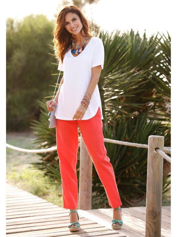 Pantalon Lino Cintura Elastica Tallas Grandes Venca Venca 025464