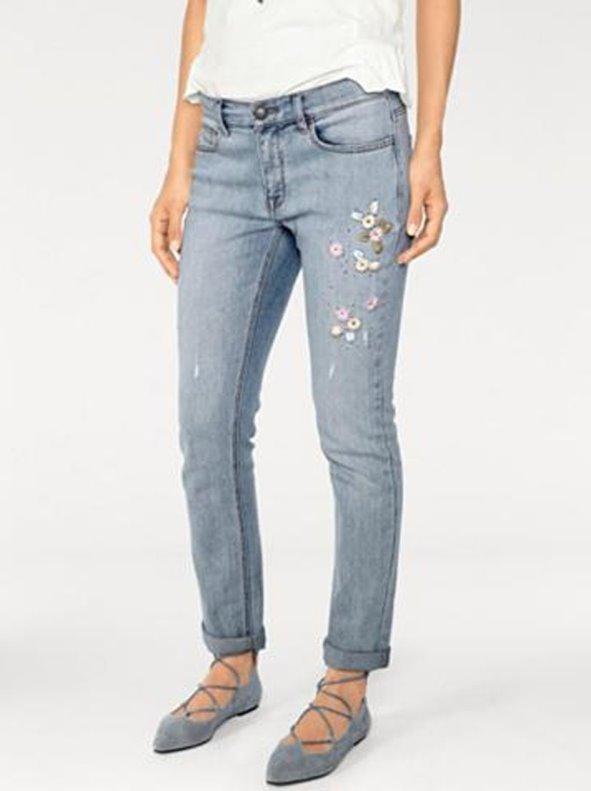 super popular Precio reducido diseñador nuevo y usado Pantalón vaquero mujer bordado
