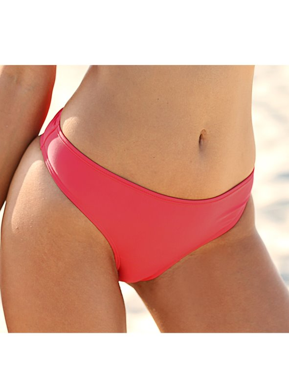 Braga bikini lisa elástica de secado rápido