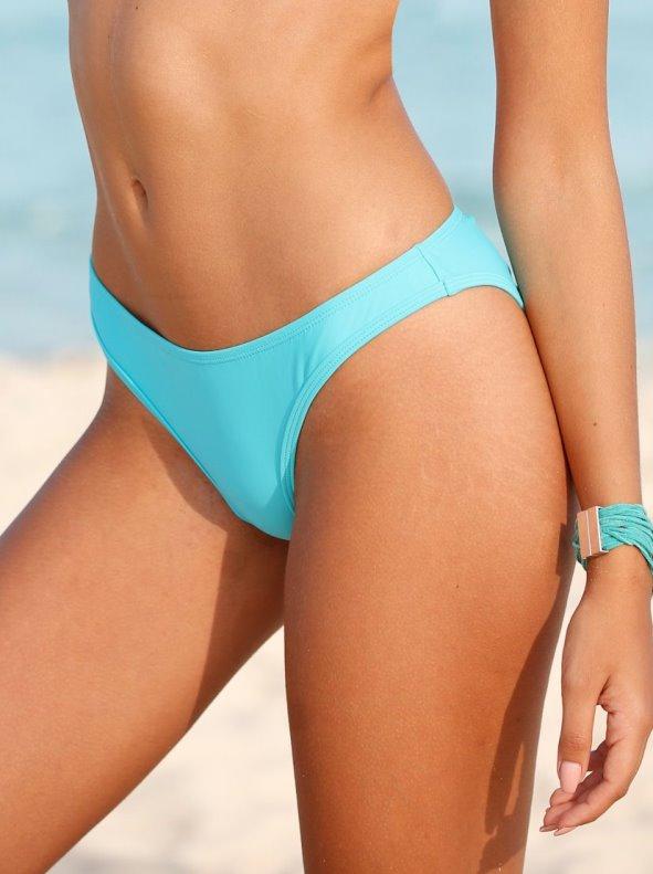 Solid bikini bottom lined in front VENCA