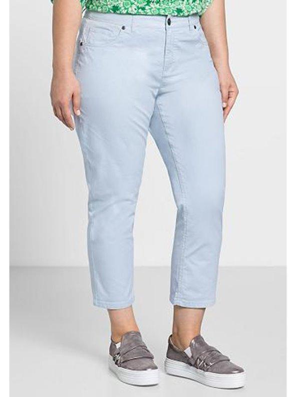 Pantalón elástico mujer largo 7/8 tallas grandes SHEEGO