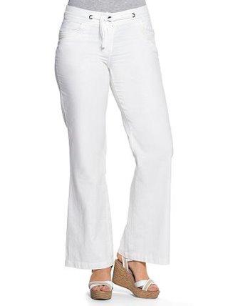 Pantalon Ancho Mujer De Lino Tallas Grandes Sheego Venca 026471