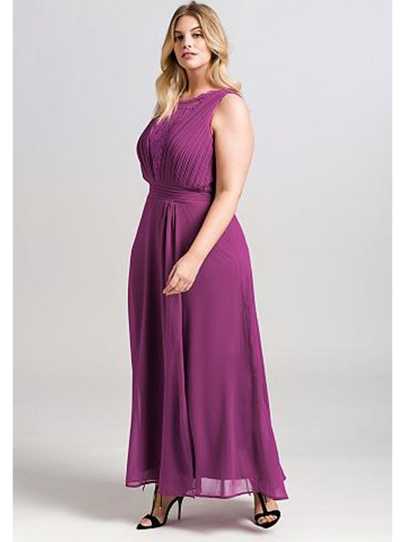 863e802e5 Vestido largo fiesta mujer tallas grandes SHEEGO - Venca - 026804