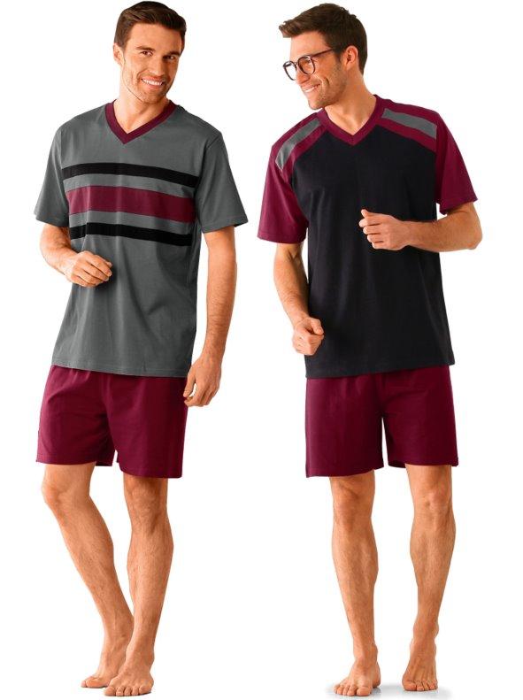 1f8c9d0ee6 lote 2 pijama pantalón corto hombre BLANCHEPORTE - Venca - 030824