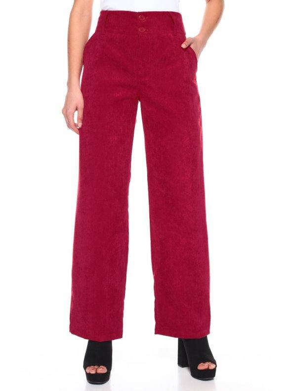 Pantalón pana recto ancha cintura