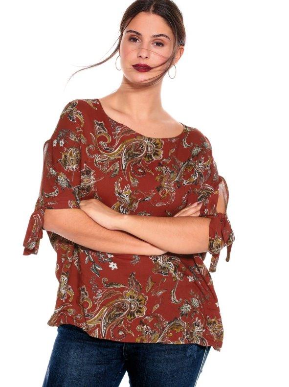 Blusa Con Lazos Tallas Grandes Chic Size L 4xl Venca 032238