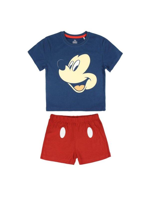 Pijama corto algodón niño estampado MICKEY