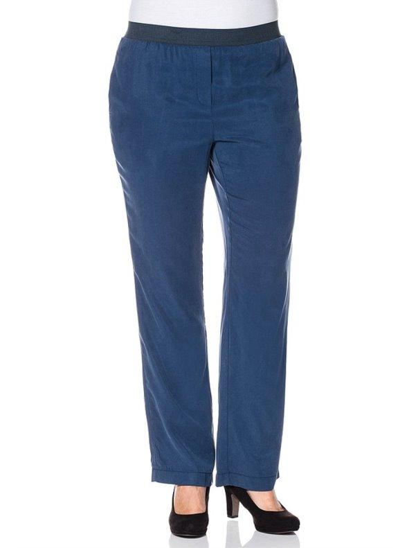 Pantalón ancho azul mujer tallas grandes SHEEGO